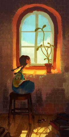 awesomedigitalart: sunny window by k-atrina