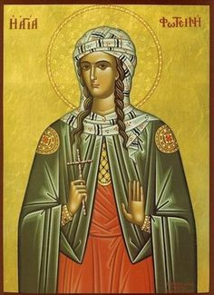 Photini Equal to the Apostles icon Orthodox icon of St. Photini the Great-martyr of Samaria. Commemorated February The Orthodox icon of the Holy Martyr Photini (Svetlana) who is the Samaritan Woman who Jesus met at Jacob's well (John. Religious Images, Religious Icons, Religious Art, Jacobs Well, Greek Icons, Art Through The Ages, Byzantine Icons, Orthodox Christianity, 1st Century