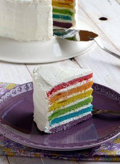 chic,chic,choc...olat: Gâteau arc en ciel ou rainbow cake