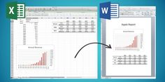 VIDEO: You can create reports in Word and PowerPoint that are linked to tables and charts in Excel.