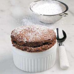 Chocolate Souffles - I've always wanted to make these!  This recipe will fill 6 ramekins instead of 4. Yummmmmmmm!!!  :-)