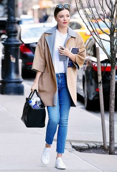 The Coolest Ways to Wear Your Jeans and Sneakers via @WhoWhatWearUK