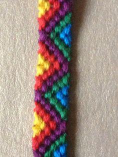 Bright narrow friendship bracelet on Etsy, £2.00