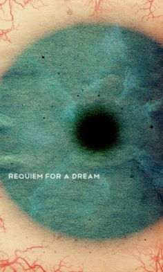 'Requiem for a Dream' movie poster designed by illustrator Travis English. via Minimal Movie Posters Minimal Movie Posters, Cinema Posters, Cool Posters, Great Films, Good Movies, Pulp Fiction, Poster Disney, Poster Minimalista, Requiem For A Dream