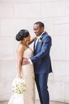 chinwe and ojay. photo by lilian haidar photography. http://munaluchibridal.com/romantic-nigerian-wedding-harvard-club-nyc