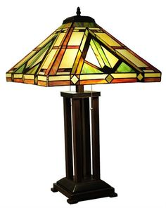Desert Sunset Mission Tiffany Table Lamp