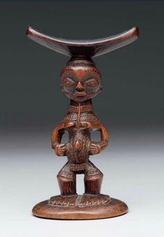 Africa | Headrest from the Lulua people of DR Congo | Wood | Late 19th to early 20th century