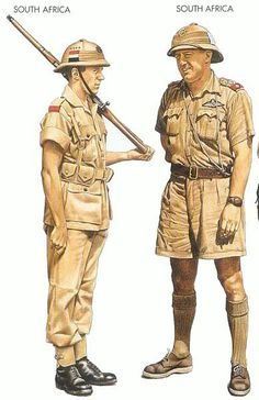 South Africa Infantry WW2 uniforms - North Africa Military Diorama, Military Art, Military History, Union Of South Africa, North Africa, Ww2 Uniforms, Afrika Korps, Army Infantry, War Image