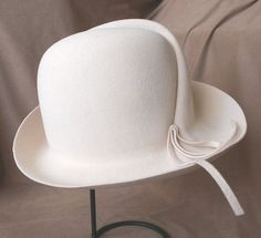 RESERVED for Tbonitastyle...Vintage 70's Hat, Fedora, Cream or Off White with…