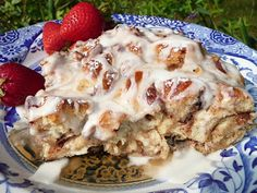 Cinnamon French Toast Bake, uses Grands cinnoman rolls. (This is an Awesome Website w/lots of recipes!!) www.everydaydutchoven.com