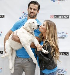 New York Jets' Eric Decker, Wife Jessie James Decker & Baby Vivianne Launch Paw it Forward w/ Purina #Dogs #NFL #NYJets