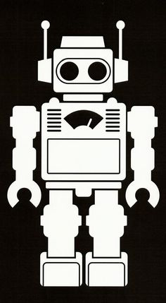 I love the retro look of the robot and how they did the detains on the chest. Robot Clipart, Vector Robot, Arte Robot, Robot Art, Robots Characters, Vintage Robots, Cool Robots, Cameo, Cool Posters