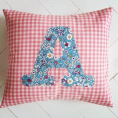 One of my personalised cushions for a little person! https://www.facebook.com/willaandbobbin?ref=hl