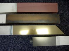 PVC profiles covered with VeroMetal Copper, Bronse, Brass, Nickel