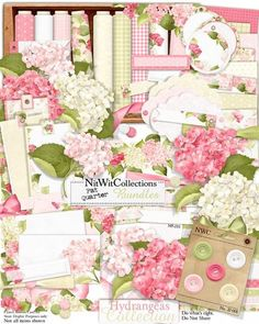 A beautiful bounty of Hydrangeas in this digital scrapbooking and card making… Digital Scrapbook Paper, Online Scrapbook, Digital Scrapbooking Freebies, Scrapbook Paper Crafts, Scrapbooking Kit, Digital Papers, Card Making Kits, Making Ideas, Birthday Clipart