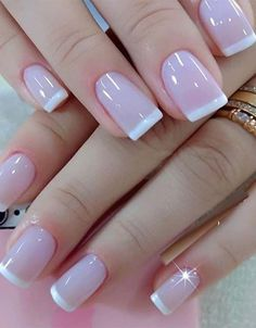 The French girl nails are one of the most classic styles of nail art that exist. Learn to draw them and also how to innovate in manicure! French Tip Nail Designs, French Tip Nails, Nail Art Designs, Nail French, Pink French Manicure, French Manicures, Nails Design, Nail Manicure, Toe Nails
