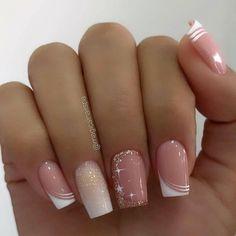 Acrylic Nail Designs, Nail Art Designs, Acrylic Nails, Nail Swag, Manicure, New Bridal Mehndi Designs, Pretty Nail Art, Gorgeous Nails, French Nails