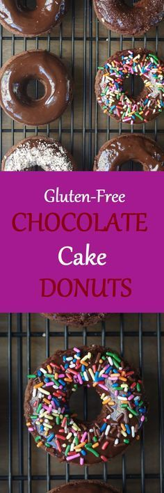 Sometimes you just need a good ole' gluten-free donut to get your through the day. These tender, chocolaty Gluten-Free Chocolate Cake Donuts will melt in your mouth.