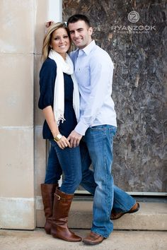 cute simple engagement pose