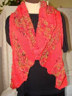 Lucci Yarn Pinwheel circular vest using Lucci Pima Cotton and Lucci Metallic Ribbon