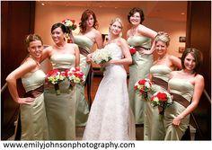 Calla lilys, roses and hydrangeas