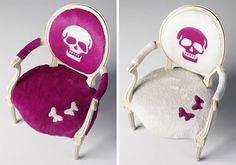 Love the White Skull Louis Chair.