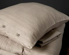 Decorative Gray Pillow Cover Cushion Cover Decorative by byAneri