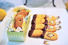 Tea bag cookies for afternoon tea.