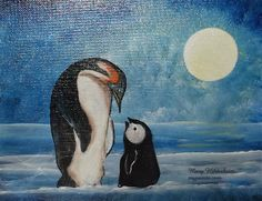 This is my Penguin painting by Mary Hildesheim
