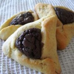 Hamentashen with Brownie Filling food-and-drink