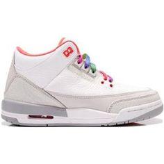 http://www.anike4u.com/ Air Jordan Retro III Girls White Crimson Grey 441140 101