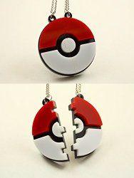 Pokeball friendship necklaces #pokemon