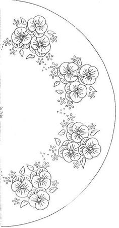 T T pansies in three plate Hand Embroidery Patterns, Vintage Embroidery, Ribbon Embroidery, Floral Embroidery, Cross Stitch Embroidery, Machine Embroidery, Tatting Patterns, Crewel Embroidery, Vintage Sewing