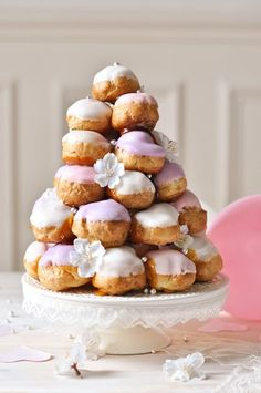 If you're in the mood to really go to town with your next Easter dessert, this gorgeous pastel Croquembouche is just the ticket! I've wanted to make one of these for years!