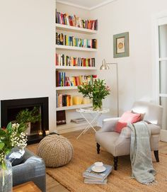 Ideas para montar tu propio rincón de lectura en casa.