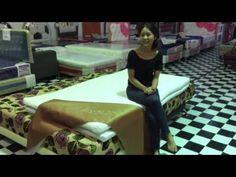 ความยืดหยุ่นของที่นอนยางพาราแท้ๆ - YouTube