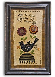 Be Yourself Sampler - Kruenpeeper Creek Country Gifts