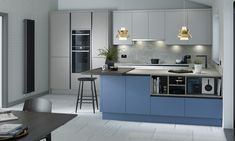 Make your kitchen POP!  Whether you decide on coloured units or an island, choose coloured glass for your splashback or just start by painting the walls, there are dozens of ways you can make your kitchen stand out with a splash of colour.  With a wide range of colour options available to view in our showroom, drop us an email today on info@pentlandkitchens.com to begin planning your dream kitchen.  #kitchenproject #luxurykitchens #kitchendesigns #interior_and_home #kitchendecoration…