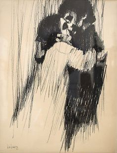 Aldo Luongo (Argentinian 1941-) Lithograph Young Lovers 1969