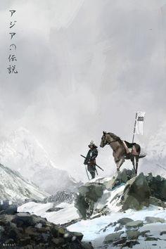 Samurai with his Horse Ronin Samurai, Samurai Warrior, Kendo, Japanese Culture, Japanese Art, Samurai Artwork, Art Chinois, Ghost Of Tsushima, Japanese Warrior