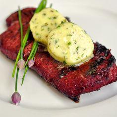 Smoked Paprika Steak with Garlic Herb Butter