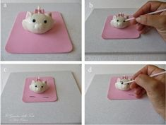 Topper Minou, gattina degli Aristogatti: tutorial | Cake