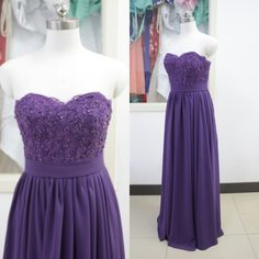 Purple chiffon bridesmaid dress lace bridesmaid dresses long bridesmaid dress A-line bridesmaid dress peach
