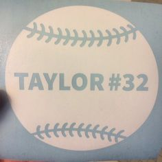 Personalized Vinyl Decal Softball Decal Baseball By LeslieScraps - Team window decals personalized