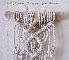 Macrame Wall Hanging Mini Driftwood by craft2joy on Etsy