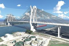Houston Tollway bridge construction begins Bridge Construction, Harris County, Sam Houston, Tower Bridge, Golden Gate Bridge, Channel, Ship, Ing, Travel