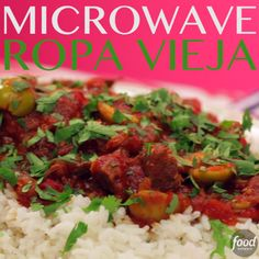 This version of Microwave Ropa Vieja (a Cuban dish of shredded beef in a piquant tomato sauce) has a deep, slow-cooked flavor we would never expect from a microwave.