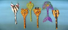 Animal wooden spoons - for full instructions and many more ideas click the link to visit our website!