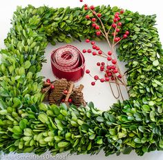 how to make a wreath using boxwood christmas wreath
