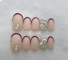 Simple Flowers, Fabulous Nails, Nail Designs, Pearl Earrings, Beaded Bracelets, Pink, Beauty, Jewelry, Finger Nails